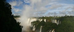 The Iguazu Falls vista